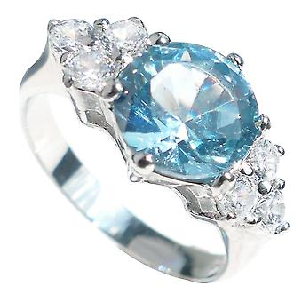 Ah! Gioielli timbrati 316 London Blue Spinel Ring. Mai Tarnish.