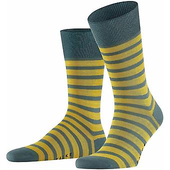 Falke Even Stripe Socks - Thunder/Yellow