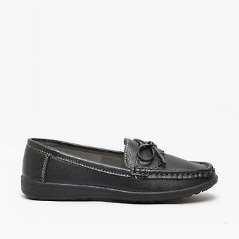 Amblers Elba Ladies loafers musta