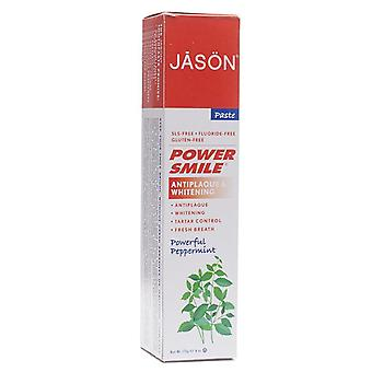 Jason natural powersmile whitening toothpaste, powerful peppermint, 6 oz