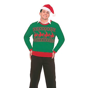 Bristol Nyhet Unisex Voksne Reinsdyr Spill Christmas Jumper