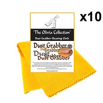 10x TOC Dust Grabber Cleaning & Polishing Cloths - Pack of 3, 425mm x 310mm