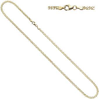 المرأة التوأم درع قلادة 333 الذهب الأصفر 2.7mm 50cm سلسلة ذهبية قلادة قلادة الذهب