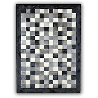 Rugs -Patchwork Leather Cubed Cowhide - Multi 4 Colours