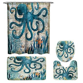 Octopus Shower Perdele set 3 Bucata