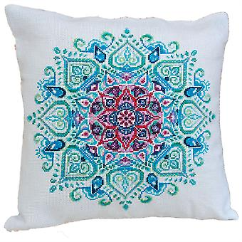 Abris Art Cushion Cover Cross Stitch Kit - Mandala