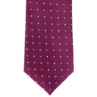 Michelsons of London Bold Spot Polyester Tie - Pink