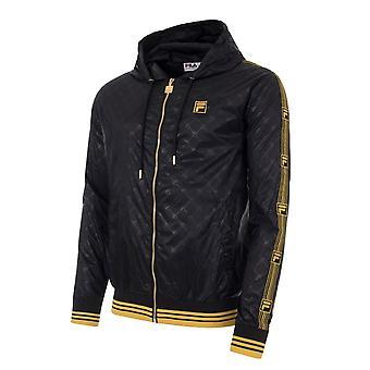 Fila Dublin Lm015773 Lichtgewicht Logo Tape Hood Jacket - Zwart/goud