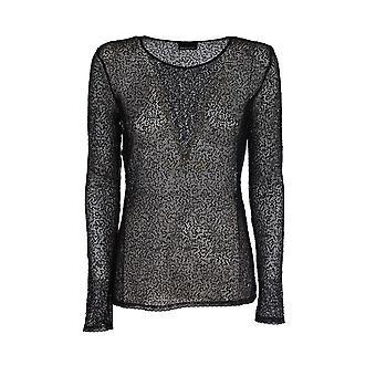 Ermanno Scervino Ts06pai99 Women's Black Polyester Sweater