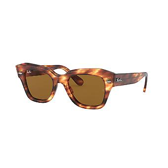 Ray-Ban State Street RB2186 954/33 Stripped Havanna/Brown Sonnenbrille