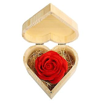 Heart-shaped Wooden Gift Box with Soap