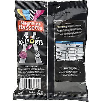 Maynards Bassetts Liquorice Allsorts 1.98kg, bulk sweets, 12 packs of 165g