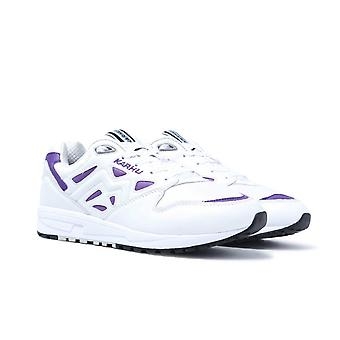 Karhu Legacy Bright White & Tillandsia Purple Leather Trainers