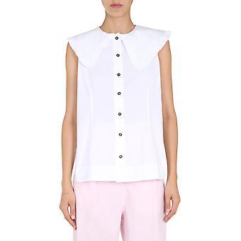 Ganni F4715151 Chemise en coton blanc femmes-apos;s