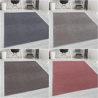 ShortFlor Rug Uni Solid Soft Touch Soft Woven Beige Grey Pink Taupe