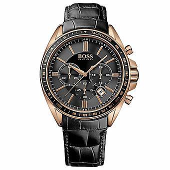 Hugo Boss 1513092 Herren-Armbanduhr Chronograph Quarz Leder Men's Watch