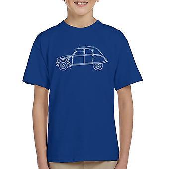 Citro?n Vintage 2CV Art Kid's T-Shirt