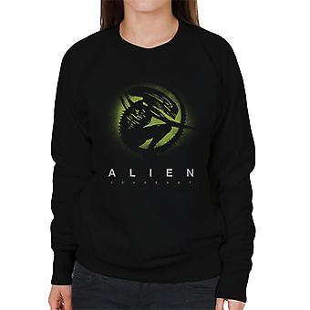 Alien Covenant Xenomorph siluetti naisten ' s College pusero