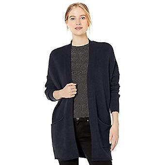 Brand - Daily Ritual Women's Cozy Boucle Coatigan Sweater, Navy , XX-L...