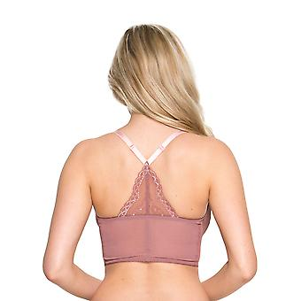 Gossard Superboost Lace 7718 Women's Non-Padded Underwired Deep V Bralet Longline Bra