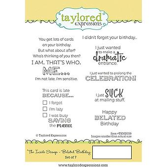 Taylored Expressions The Inside Scoop - Belated Birthday