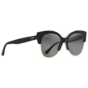 Maui Jim Mariposa GS817 02 Gloss Black with Gold/Neutral Grey Sunglasses