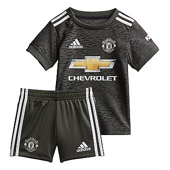 adidas Manchester United 2020/21 Kids Infant Baby Away Football Kit Khaki