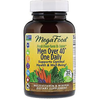 MegaFood, Men Over 40 One Daily, 30 Tablets