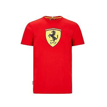Camiseta Scuderia Ferrari Men's Large Shield ? Rojo ? 2020