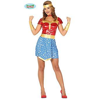 Super hjältinna kostym damer hjältinna hjälte comic Heldin kostym