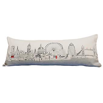 Spura Home London Pictorial Print Skyline Contemporary Wool Day/Night Cushion