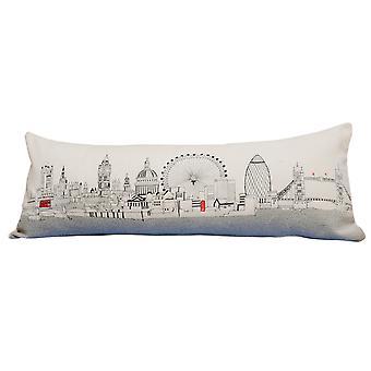 Spura Home Londres impresión pictórica skyline contemporáneo lana día / noche cojín