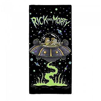 Toalla de nave espacial Rick y Morty UFO
