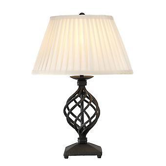 1 Lampe de table légère noire, E27