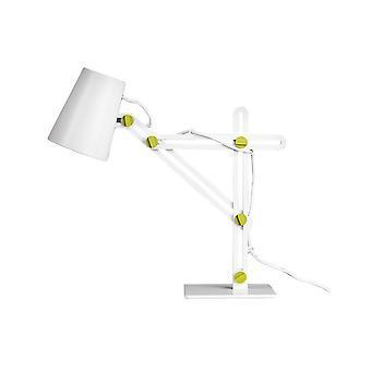 Bordopgavelampe 1 Lys E27, Mat Hvid, Grøn