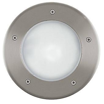 1 Light Outdoor Ground Light Stainless Steel IP44, E27