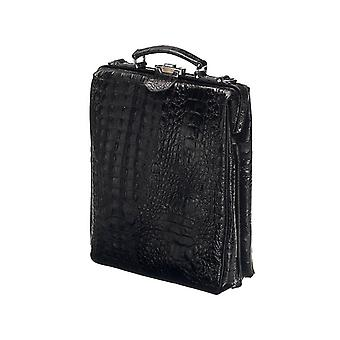 Leather Backpack - On The Bag - Black - Croco