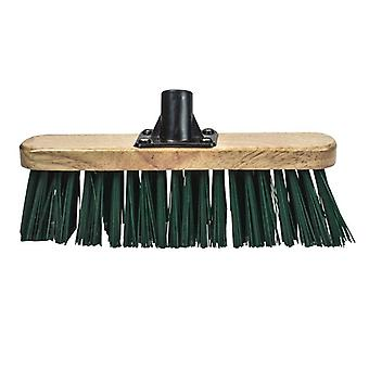 Faithfull Broom Head Stiff Green 300mm (12in) Threaded Socket FAIBRSTIF12R