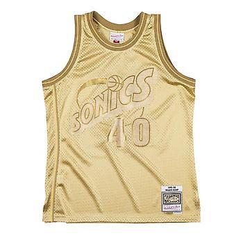 Mitchell & Ness Nba Midas Swingman Supersonics Shawn Kemp SMJYBW19079SSUMTGD94SKE koripallo koko vuoden miesten t-paita