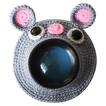 Kid Knitted Lens & Pet Teaser Toy Accessory - Cute Animal Camera Buddies