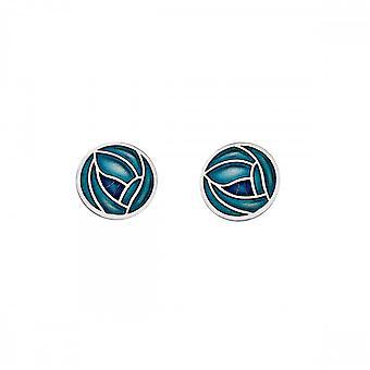 Sea Gems Mackintosh Stud Earrings Turquoise Blue 7685tq