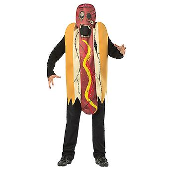 Hommes Zombie Hot Dog Halloween Novelty Food Monster Fancy Dress Costume