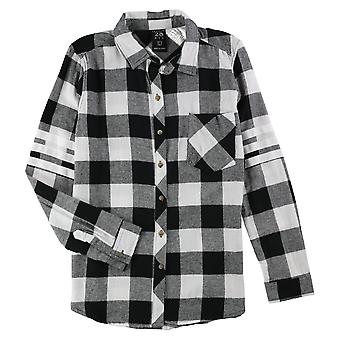 Project 28 NYC   Varsity Plaid Button Up Shirt