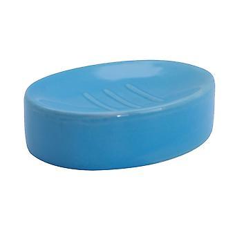 Savon - Verred Ceramic Bathroom Sink Holder Saver - Bleu