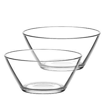 LAV Vega Small Glass Snack Serving Bowl - 215ml - Pack of 6