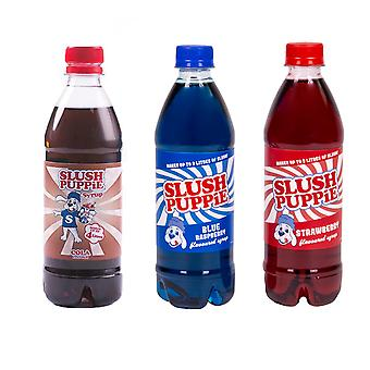 Slush Puppie Cola + Blå + Röd Sirap Set