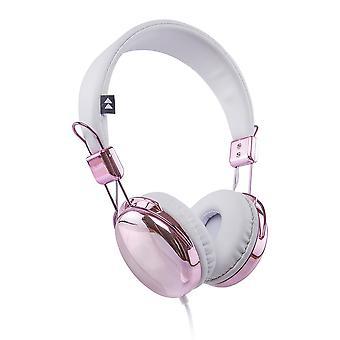 Flash-On Metallic Headphones - Rose Gold/White (FLASH-ON-RGW)