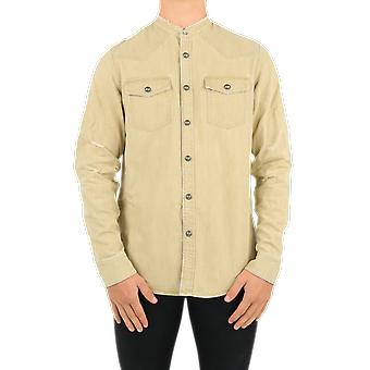 Balmain Reliëf Denim Shirt-U Beige UH02326Z1788AA Top