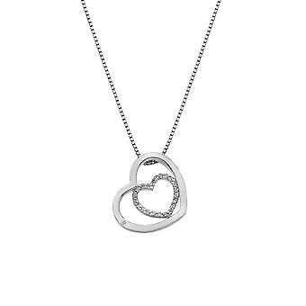 Hete diamanten sterling zilver schattig omhuld hanger DP691