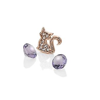 Anais Hot Diamonds Anais Rose Gold Plated Sterling Silver Cat Charm AC068